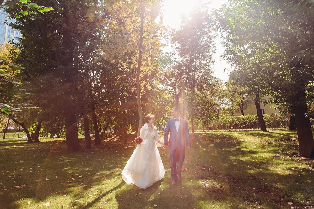 Свадебная прогулка в Нескучном саду (Парке Горького) (фото)