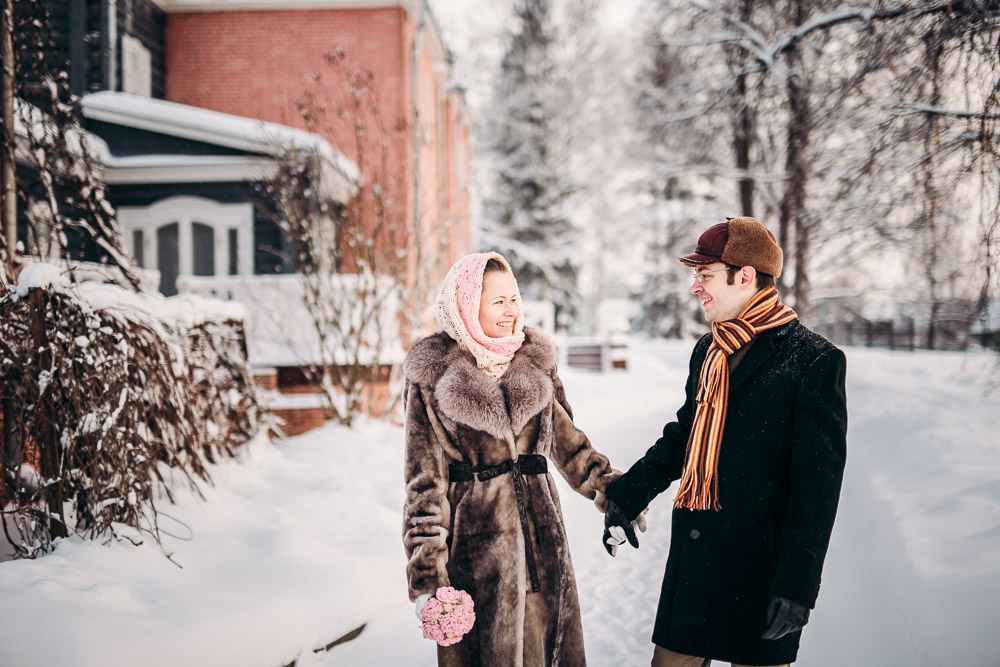 Свадебная фотосессия в усадьбе Тютчева в Мураново (фото)