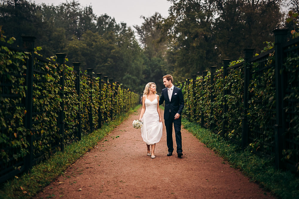 Свадебная фотосессия в усадьбе Кусково (фото)